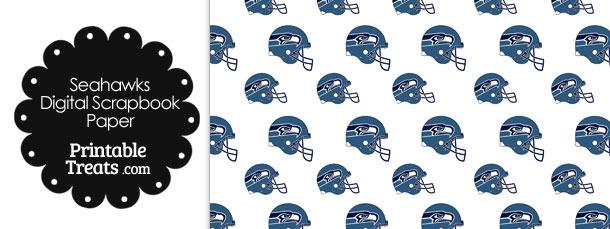 Seattle Seahawks Football Helmet Digital Paper