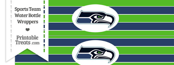 Seattle Seahawks Water Bottle Wrappers