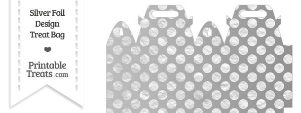 Silver Foil Dots Treat Bag