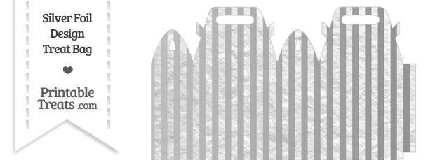 Silver Foil Stripes Treat Bag