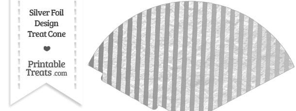 Silver Foil Stripes Treat Cone