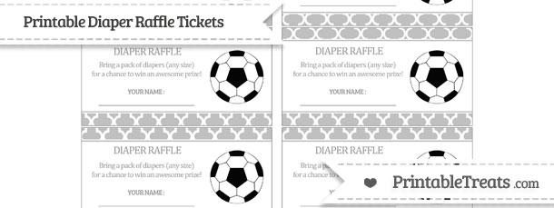 Free Silver Moroccan Tile Soccer Diaper Raffle Tickets