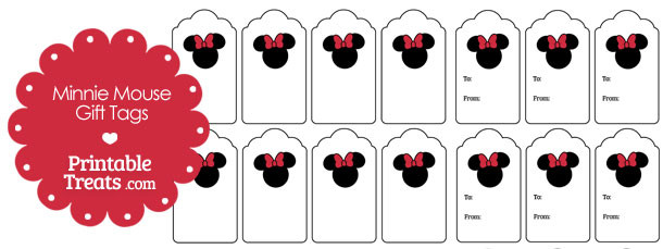Simple Minnie Mouse Gift Tags