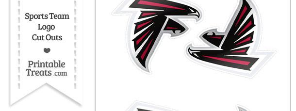 Small Atlanta Falcons Logo Cut Outs Printable Treats