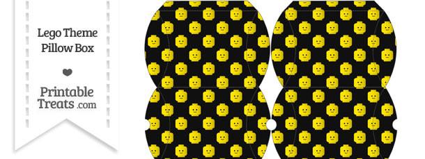 Small Black Lego Theme Pillow Box