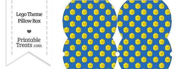 Small Blue Lego Theme Pillow Box