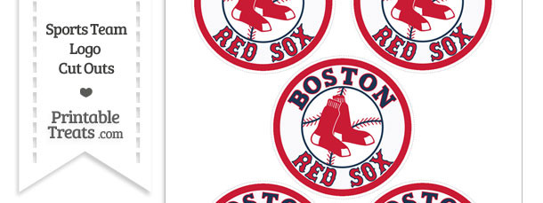 Small Boston Red Sox Logo Cut Outs