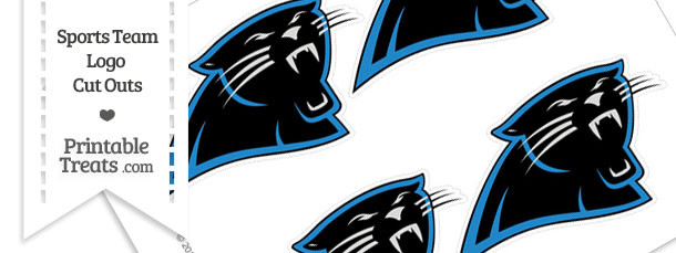 Small Carolina Panthers Logo Cut Outs
