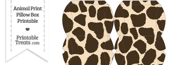 Small Giraffe Print Pillow Box