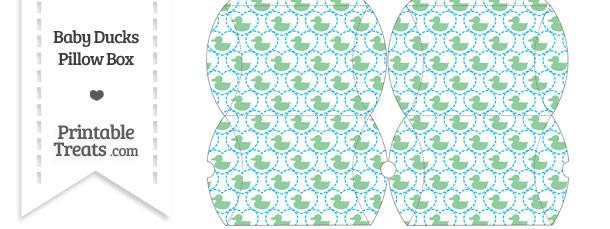 Small Green Baby Ducks Pillow Box