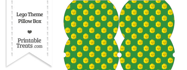 Small Green Lego Theme Pillow Box