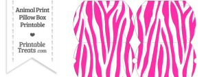 Small Hot Pink and White Zebra Print Pillow Box