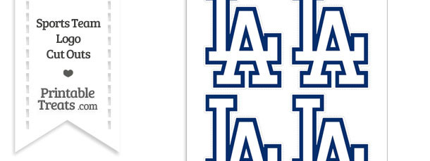 image about Dodger Schedule Printable titled Little Los Angeles Dodgers Symbol Slice Outs Printable