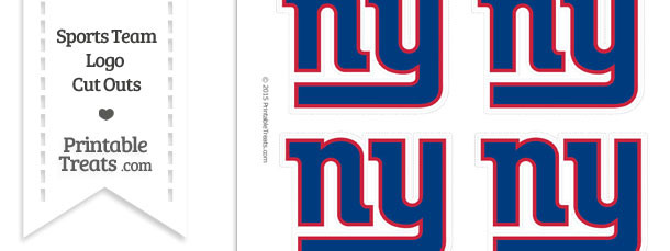 Small New York Giants Logo Cut Outs