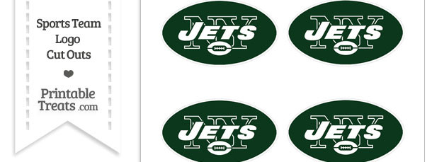 Small New York Jets Logo Cut Outs
