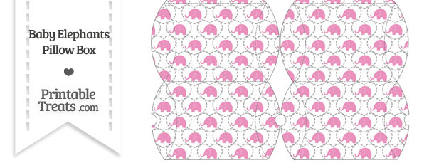 Small Pink Baby Elephants Pillow Box