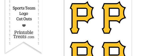 Small Pittsburgh Pirates Logo Cut Outs