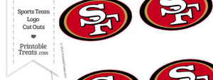 Small San Francisco 49ers Logo Cut Outs