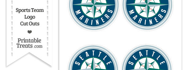 Small Seattle Mariners Logo Cut Outs