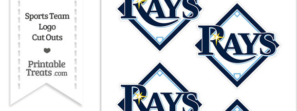 picture about Rays Printable Schedule identify Tiny Tampa Bay Rays Emblem Lower Outs Printable