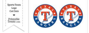 Small Texas Rangers Logo Cut Outs