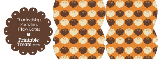 Small Thanksgiving Pumpkins Pillow Box