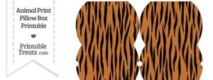 Small Tiger Print Pillow Box