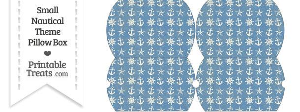 Small Vintage Blue Nautical Pillow Box