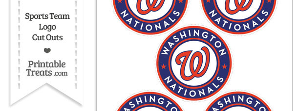 Small Washington Nationals Logo Cut Outs