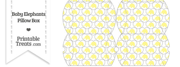 Small Yellow Baby Elephants Pillow Box