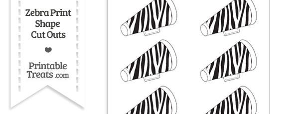 small zebra print cheer megaphone cut outs printable. Black Bedroom Furniture Sets. Home Design Ideas