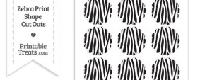 Small Zebra Print Scalloped Circle Cut Outs