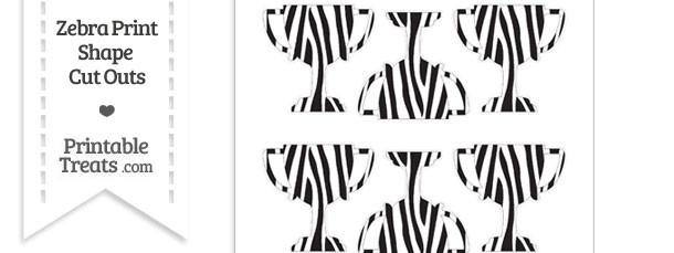 Small Zebra Print Trophy Cut Outs