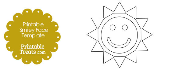 photo about Sun Stencil Printable identified as Smiley Deal with Sunlight Template Printable