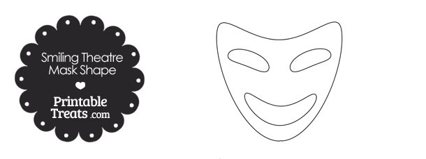 graphic regarding Printable Smile known as Smiling Theatre Mask Template Printable