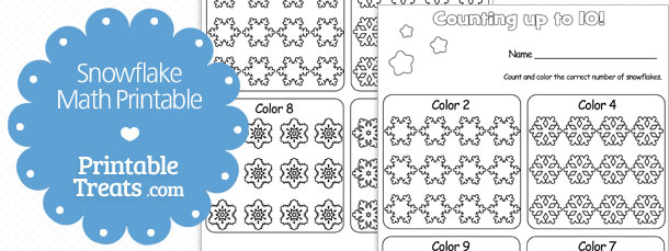 Snowflake Math Printable Printable Treats – Snowflake Math Worksheets