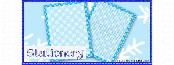 snowflake stationery template printable treats com