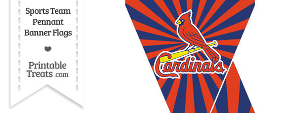 photograph about St Louis Cardinals Printable Schedule referred to as St Louis Cardinals Mini Pennant Banner Flags Printable