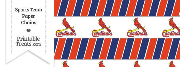 St Louis Cardinals Paper Chains