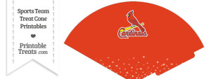 St Louis Cardinals Treat Cone Printable