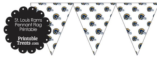 St Louis Rams Football Helmet Pennant Banners