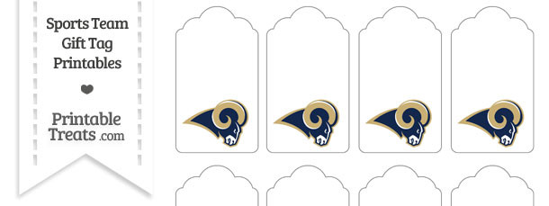 St Louis Rams Gift Tags