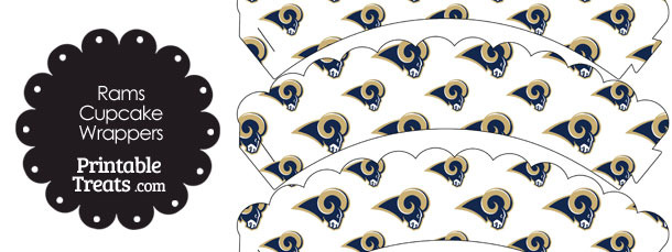 St Louis Rams Logo Scalloped Cupcake Wrappers