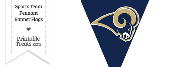 St Louis Rams Pennant Banner Flag — Printable Treats.com