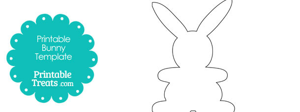 Standing Easter Bunny Outline