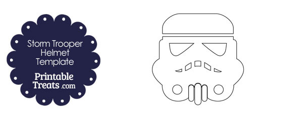 Star Wars Stormtrooper Helmet Template — Printable Treats com