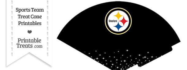 Steelers Treat Cone Printable