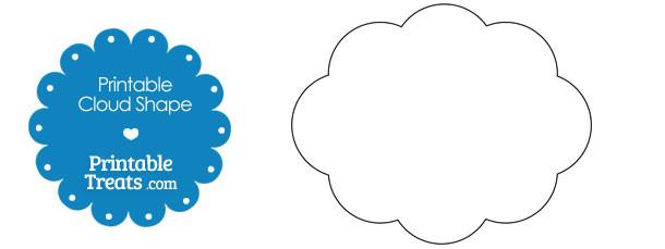 Symmetrical Rain Cloud Shape Printable Treats Com