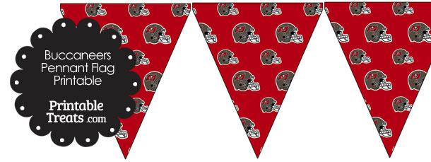 Tampa Bay Buccaneers Football Helmet Pennant Banners