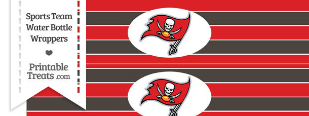 Tampa Bay Buccaneers Water Bottle Wrappers